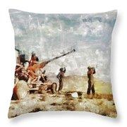 Bofors, Desert War, Wwii Throw Pillow