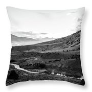 Boiling River Throw Pillow