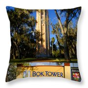 Bok Tower Gardens Poster A Throw Pillow