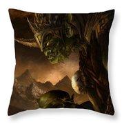 Bolg The Goblin King Throw Pillow