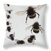 Bombus Throw Pillow