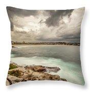 Bondi Beach Throw Pillow by Chris Cousins