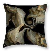 Bone Garden Throw Pillow