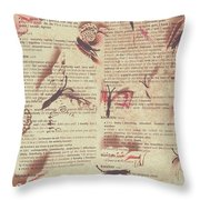 Book Bugs Throw Pillow