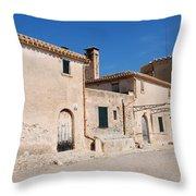 Boquer Valley Building In Majorca Throw Pillow