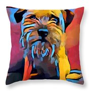 Border Terrier Throw Pillow