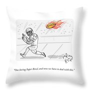 Boring Superbowl Throw Pillow