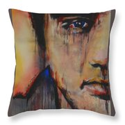 Born Standing Up Throw Pillow by Eric Dee