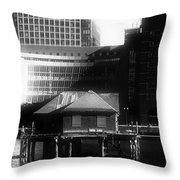 Boston Fort Point Channel Contrast Throw Pillow