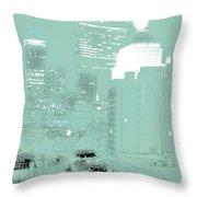 Boston Massachusetts Night Scene Digital Art Throw Pillow