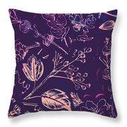 Botanical Branching Throw Pillow
