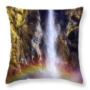 Bottom Of The Falls Throw Pillow