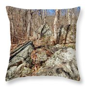 Boulders Along The Trail Throw Pillow