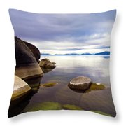 Boulders At Sand Harbor Throw Pillow
