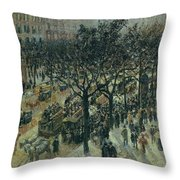 Boulevard Des Italiens - Afternoon, 1987 Throw Pillow
