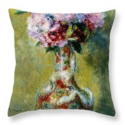 Bouquet In A Vase, 1878 Throw Pillow