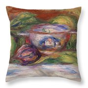 Bowl, Figs, And Apples, 1916 Throw Pillow