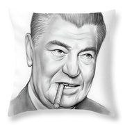 Boxer Jack Dempsey Throw Pillow