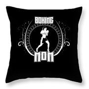 Boxing Mom Combat Sport Martial Arts Training Throw Pillow