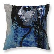 Boy In Blue Throw Pillow