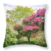 Spring Arrives At Daffodil Hill Throw Pillow