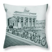 Brandenburg Gate - Berlin Throw Pillow