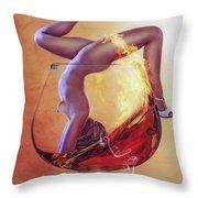 Brandy Girl Throw Pillow