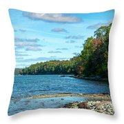 Bras D'or Lake, Cape Breton Nova Scotia, Canada Throw Pillow