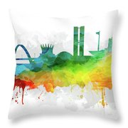 Brasilia Skyline Cityscape Brbr07 Throw Pillow