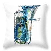 Brass Euphonium 4 Throw Pillow