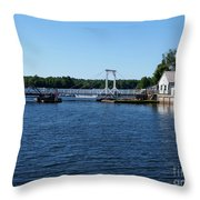 Brass Point Bridge On The Rideau Canal Ontario Throw Pillow
