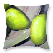 Breakfast Pears Throw Pillow