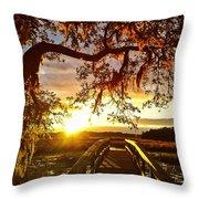 Breaking Sunset Throw Pillow