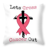 Breast Cancer Awareness Art Christian Women Light Throw Pillow