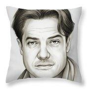 Brendan Fraser Throw Pillow