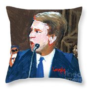 Brett Kavanaugh Testifies Before Senate Throw Pillow