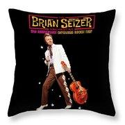 Brian Setzer Christmas Rock 15th 2018 Ajadcode11 Throw Pillow