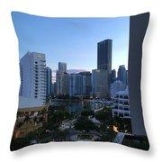 Brickell Key Miami Florida Throw Pillow