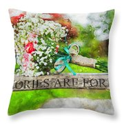 Bridal Bouquet Throw Pillow