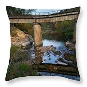Bridge At Council Hill Station Throw Pillow