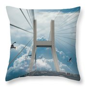 Bridge In The Clouds Throw Pillow