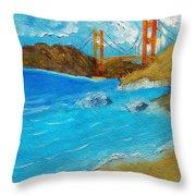 Bridge Over The Bay Throw Pillow