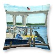 Bridge To Summer II Throw Pillow