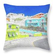 Bright Parish Life Bermuda Throw Pillow