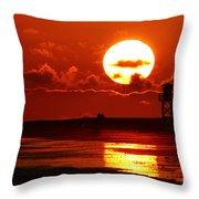 Bright Rota, Spain Sunset Throw Pillow