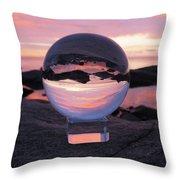 Brighton Beach Reflections Throw Pillow