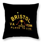 Bristol Sign And The Moon Throw Pillow
