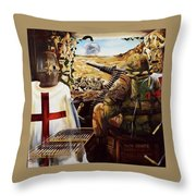 British Crusader Throw Pillow