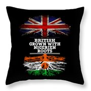British Grown With Nigerien Roots Throw Pillow