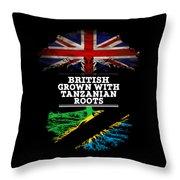 British Grown With Tanzanian Roots Throw Pillow